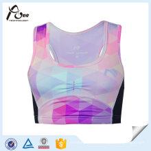 Sublimación mujeres corriendo ropa interior gimnasio sujetador para venta por mayor