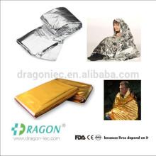 Kits de survie militaire d'urgence thermique de couverture de mylar réfléchissant