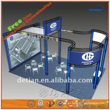 braguero de la caja de la exposición de aluminio, exhibición de la feria profesional, soporte del braguero en China