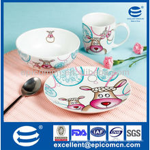 hot selling ceramic children set fCanton Fair or breakfast BC8003