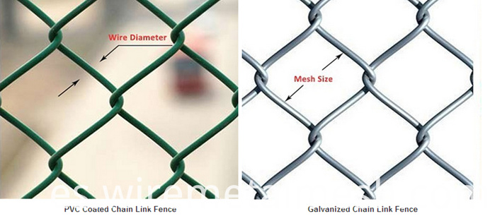 the stadium pvc chain link fence detial