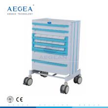 AG-WNT001 ABS matériau hôpital hôpital médicament infirmier manuel patient chariot
