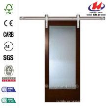 40 дюймов x 84 дюймов. Заливка 1 Lite Твердая древесина Внутренняя дверь сарая двери