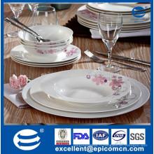 Set de dîner en porcelaine fin 18pcs personnalisé en porcelaine fine
