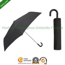 Gérer les personnalisés parapluie télescopique avec crochet pour cadeau promotionnel (FU-3821BC)