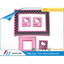 cute pink cat cartoon magnetic photo picture frame