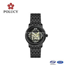 2016 Hot Fashion Men Vouge poignet mécanique en acier inoxydable Backcase Montre automatique