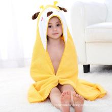 C7009 Wholesale  pure cotton children beach towel cartoon baby bath towel baby towel with hooded