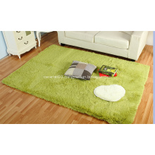 100% polyester bath mat with silky fur
