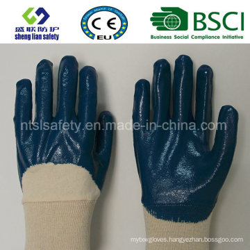 Blue Nitrile Coated Interlock Safety Glove