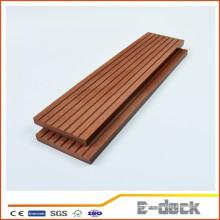 HDPE de alta densidade de longa vida exterior de co-extrusão co-extrusão cobrir wpc sólida decking com alta qualidade