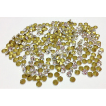 Round Pointback Rhinestones, Clear Crystal Glass Rhinestone Pointback Chatons