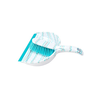 Household Plastic Cleaning Set Mini Printed Broom And Dustpan Set