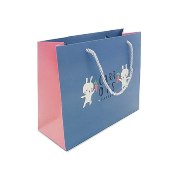 Blue Simple Cartoon Shopping Bag