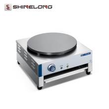 Commercial Stainless Steel 1-Plate Mini Electric Rotating Crepe Maker Machine Automatic