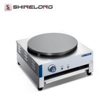 Máquina elétrica de fabricante de crepe rotativa elétrica de aço inoxidável comercial de 1 placa automática