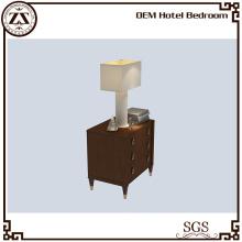 Wooden Veneer Hotel Bedside Cabinet