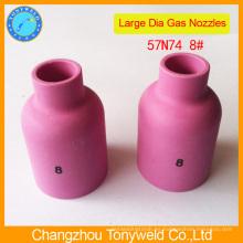Pistola de soldadura de argón tig 57N74 pieza de cerámica