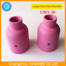 Argon tig welding torch part 57N74 ceramic nozzle