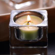 Petits bougeoirs en verre pour bougies chauffe-plat