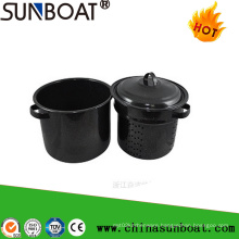 Sunboat 7qt Enamel Stock Pot/ Enamel Funnel Stew Pot