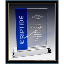 "Crystal Award Plaques / Vertical Blue Plaque 7"" H (NU-CW726)"
