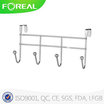 Spectrum Diversified Over The Door 4 Hook Rack Chromed