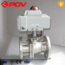 dn40 stainless steel flanged motorized ball valve