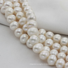 Chaîne à perles d'ivoire d'eau douce et grande taille 12mm