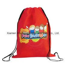 Meninas Promocionais baratos impermeável à prova de água Nylon Kids Drawstring Swim Bag