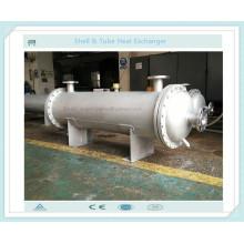 Shell e trocador de calor tipo tubo como refrigerante de solução de óleo / química