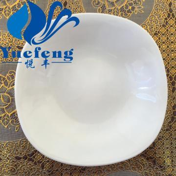 Plato de sopa de vidrio opalino resistente al calor