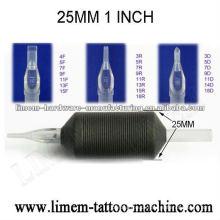 Aperto descartável da tatuagem do silicone de 1inch 25mm / Tatuaje agarre de silicona desechable