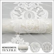Tela nupcial india del bordado de la cinta de la moda profesional del nuevo diseño