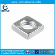 Em estoque Fornecedor chinês melhor preço DIN562 aço inoxidável quadrado porcas finas