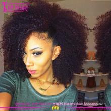 High quality afro kinky curly glueless wig wholesale cheap 8a grade afro kinky human hair wig
