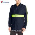 Camisa de algodón de manga larga y alta visibilidad Camisa de hombre de seguridad industrial y resistente con bolsillos