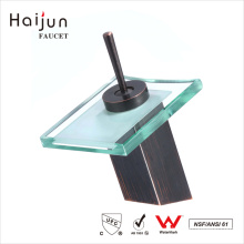 Haijun 2017 Overseas Products Ornate Glass Waterfall Thermostatic Basin Faucet