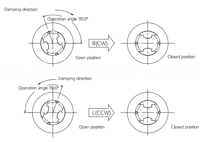 Damper Drawing For Toilet Seat