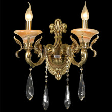 Hot selling attractive for Crystal Wall Light twin glass candle wall lamp wall Sconces supply to Russian Federation Factories
