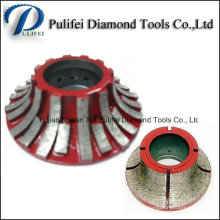 Stone Grinding Wheel Diamond Brazed Sintered Electroplated Profile Wheel
