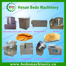 large utilisé frites de pomme de terre équipement / ligne de croustilles de pommes de terre naturelles à vendre