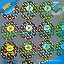 Autocollant holographique 3D / feuilles d'hologramme 3D / Autocollant d'hologramme 3D personnalisé chaud