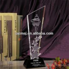 Bonito premio de estrella de cristal k9 para el premio de la compañía