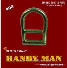 406 Galvanisierter Stahl Sicherheits-Single-Slot D-Ring