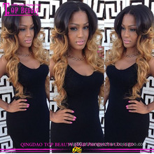 #1B/27 Ombre color 100% cabelo humano seda superior completo do laço perucas sem derramamento total fina pele cap perucas cheias do laço cabelo humano