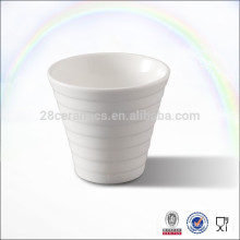 Manly cup eco ware white porcelain ceramic tea cups