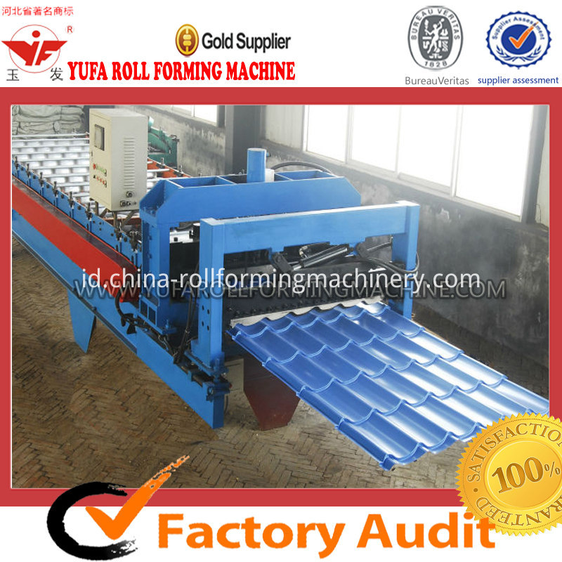 glazed tile metal sheet color steel roll forming machine