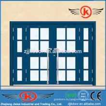 JK-SS9016 роскошная входная дверь из нержавеющей стали с двойным листом