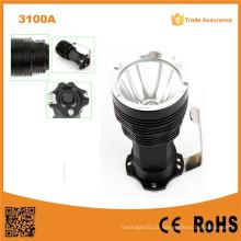 Forte luz forte tocha recarregável alumínio lanternas LED